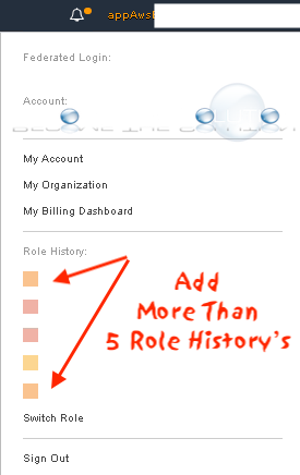How To: AWS Role History More Than 5 Saved