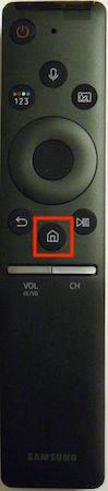 Samsung remote home button