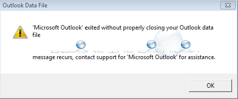 Fix: Microsoft Outlook Exited Without Properly Closing Your