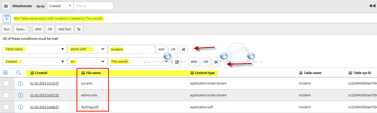 ServiceNow: Search Incidents with Attachments Only