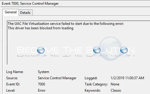 Fix: The UAC File Virtualization Service Failed to Start.