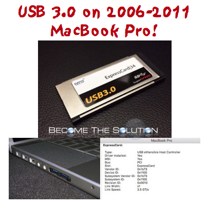 Buy: MacBook Pro (2006-2011) ExpressCard 34 USB 3.0