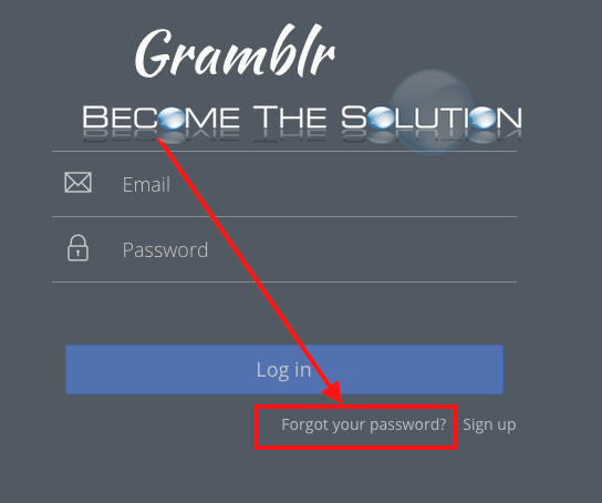 Gramblr: Change Password
