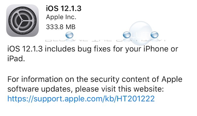 iOS 12.1.3 New Features