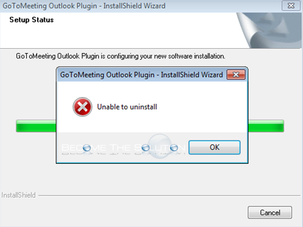 Fix: GoToMeeting Outlook Plugin Unable to Uninstall