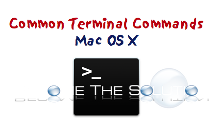 Top Terminal Commands Mac X