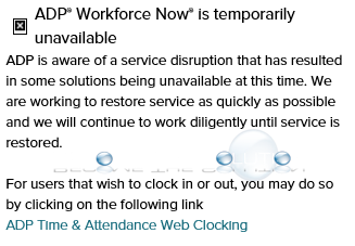 ADP Workforce Now is Temporarily Unavailable