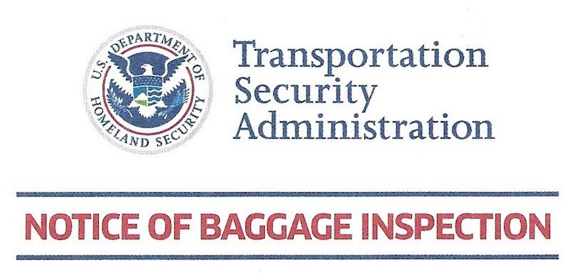 TSA Notice of Bag Inspection Form – What to Do?