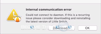 Little Snitch: Internal Communication Error – Mac OS X