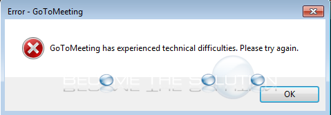 Why: GoToMeeting has experienced technical difficulties. Please try again.