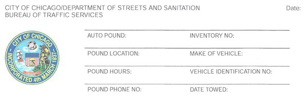 Notice of Vehicle Impoundment Chicago – Request a Hearing