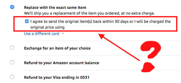 Amazon return missing item 30 days