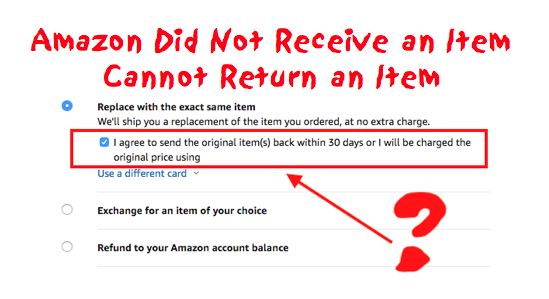 Why: Amazon missing package - must return original item for refund, but no item to ship?