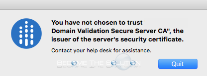 "Why: You Have Not Chosen to Trust """" - Citrix Mac"