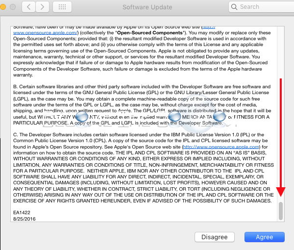 Mac software update eula license agreement