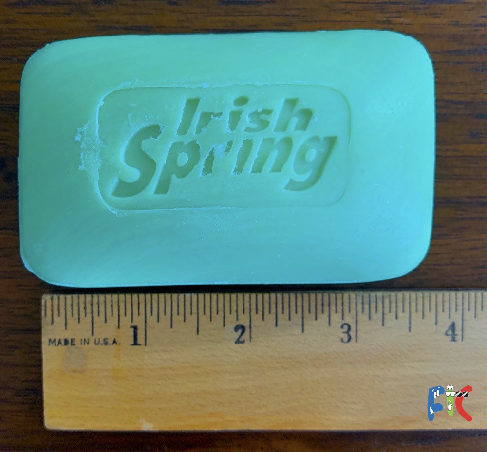 Irish spring soap size measurements