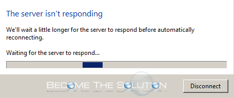 Why: The server isn't responding. We'll wait a little longer for the server to respond before automatically reconnecting.
