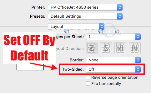 Mac Turn Off Print Double-Sided by Default