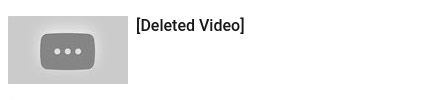 Youtube deleted video picture icon