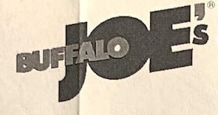 Buffalo Joe's Chicago Menu