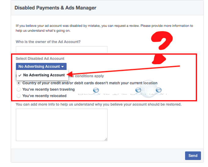 Facebook disabled payments and ads manager