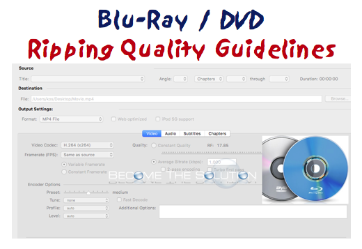Blu Ray DVD Ripping Quality Disc