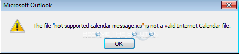 Fix: Not supported calendar message.ics – Outlook