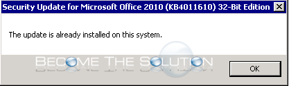 This update is already installed on this system. – Windows
