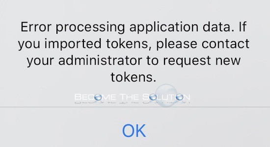 Fix: Error processing application data. (RSA Tokens)