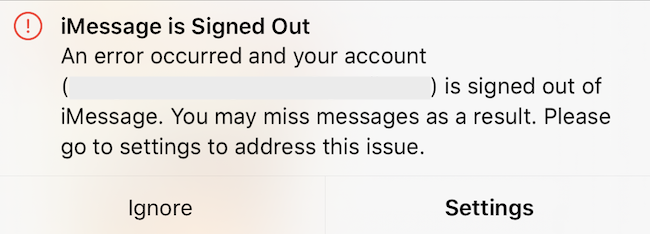 Fix: iMessage is Signed Out error