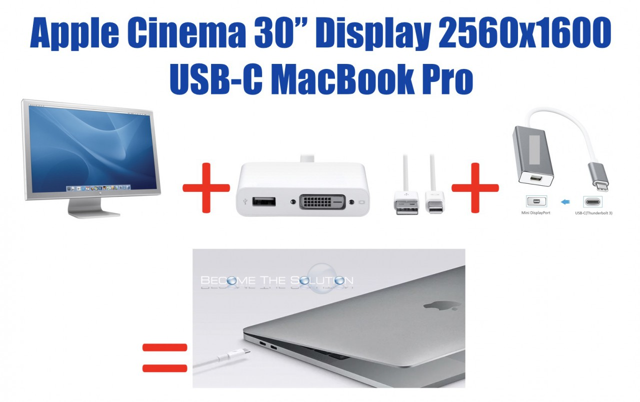 Use Apple Cinema Display 30-inch (Full Resolution) with USB-C - What You Need
