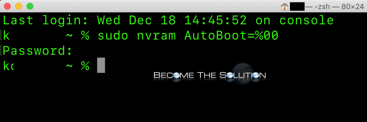 Macbook pro disable power on lid open terminal nvram auto boot command