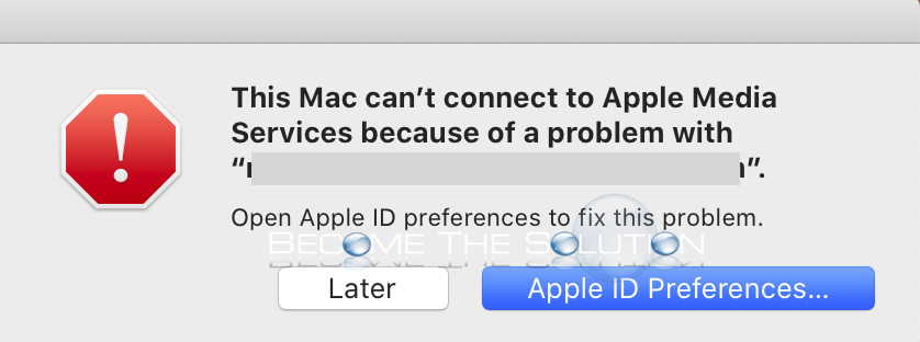 Why: This Mac can't connect to Apple Media Services because of a problem with…