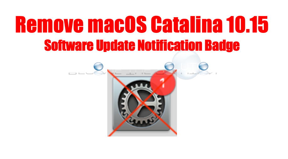 Remove update notification for macOS Catalina 10.15 - Mac System Preferences