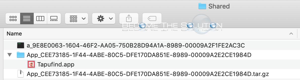Tapufind mac remove shared folder files