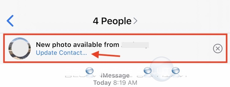 "Fix: iMessage keeps showing ""New Photo Available"" after clicking ""Update"""