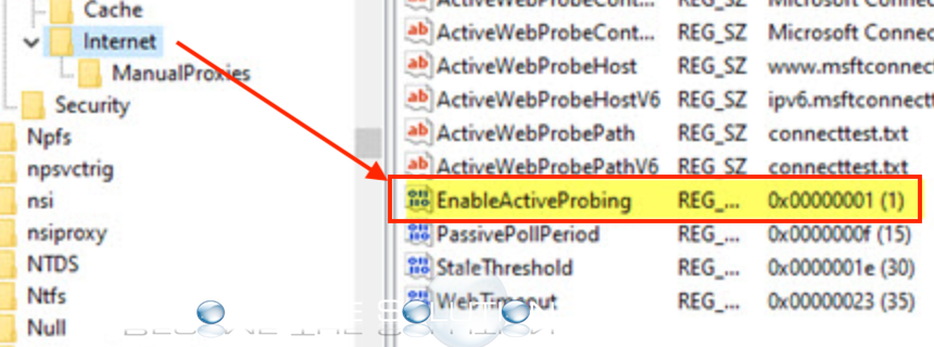 Outlook 365 registry enableactiveprobing