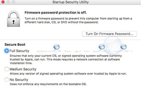 Macos startup security utility secure boot