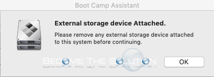 Fix: Boot Camp Assistant – External storage device Attached (Even though disk is unmounted)
