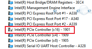 Windows boot camp disable pcie 1901 device manager
