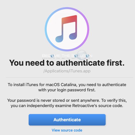 Retroactive mac install authenticate