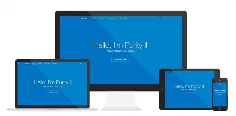 Joomla Free Template Purity III