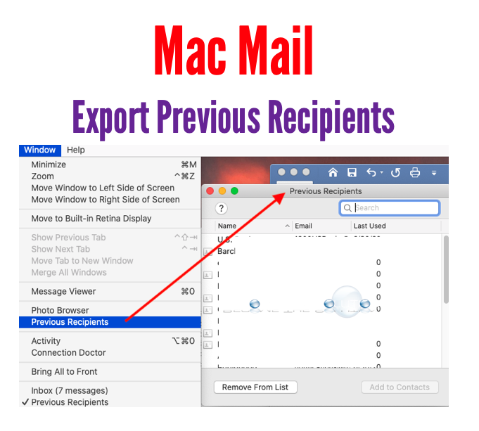 Export Previous Recipients - Mac Mail