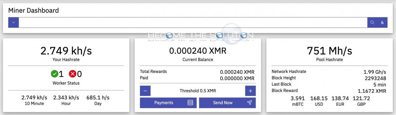 Xmrig crypto mining pool when do I get paid