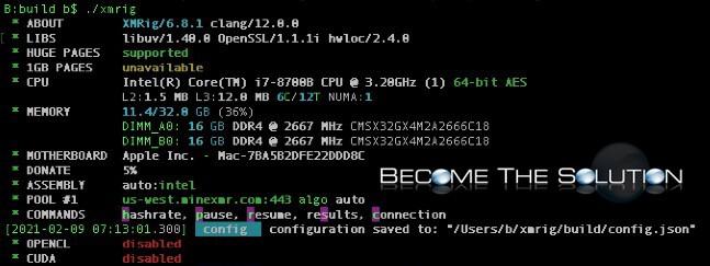 Xmrig macos install configuration mac mini