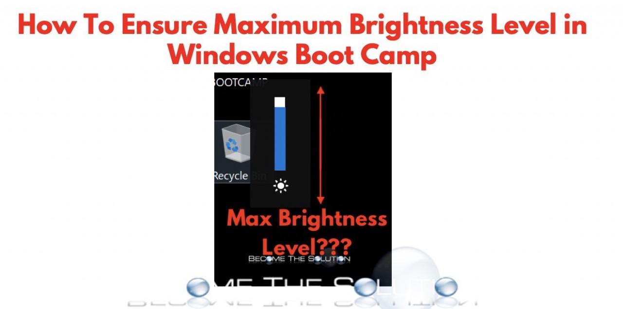 Fix: Maximum Display Brightness + Windows Boot Camp