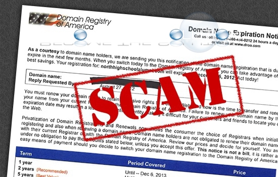 Don't Fall for Domain Registration Invoices!