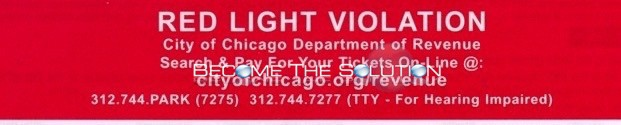Contest Red Light Violation Ticket Chicago