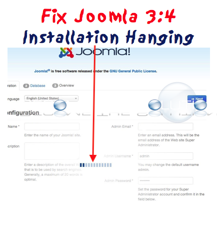Fix Joomla 3 Install Hanging at First Step