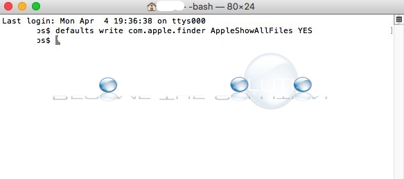 Show Hidden Files Mac OS X